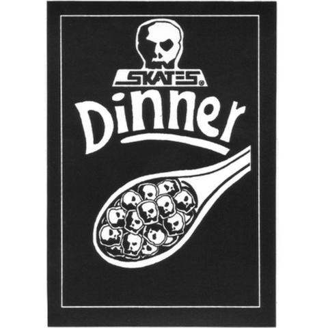 "SKULL SKATES(スカルスケーツ)""DINNER"" ステッカー"