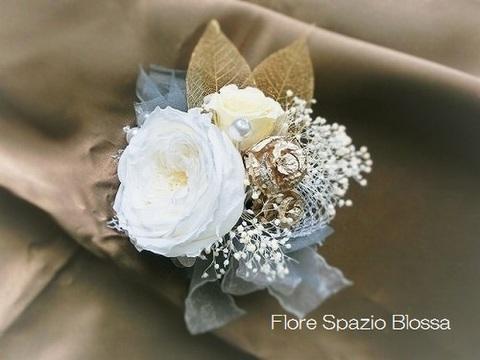 CO-02★コサージュ お花のブローチ♪シルバー&ホワイト ウェディング特集 母の日