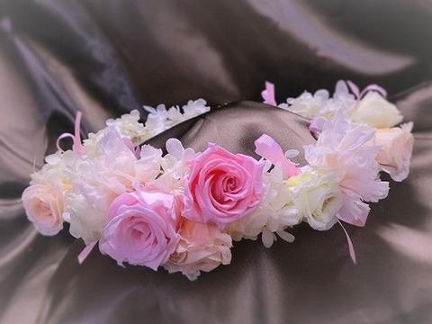 UTA-★ベイビーピンク&ホワイト小花の花冠★