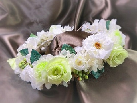 HR-22★ナチュラル・ローズとマリアンヌの花冠