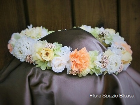 HRー37★ペールトーンの花冠♪