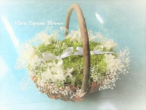 【オーダーメイド受付】RP-31カスミ草 小花・花かごリングピロー 人気商品♪♪再販♪