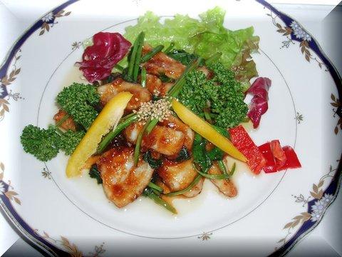 イカと青菜の中華炒め