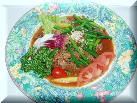 牛肉とにんにくの芽の中華炒め