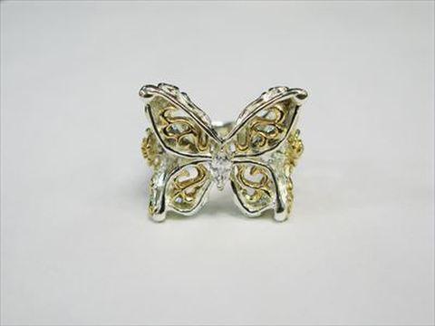 evr-45ygc Alluring Butterfly Ring オルリングバタフライリング