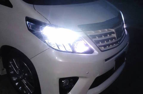 20系アルファード/ヴェルファイア/LEDハイビームライト/PHILIPS CHIP/4000lm(6500K)