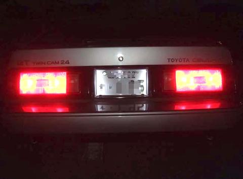 トヨタ・セリカXX 2000GT TWINCAM24/5730 Power LED(11pcs) 500LM(6000K)ライセンスランプ/E-GA61-BLMQF