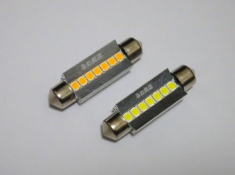T10 x 42mm/Epistar 3030 monster LED(400LM)ワーニングキャンセラー内蔵/単品 1個(昼白色 6000K/レトロ電球色 4000K)