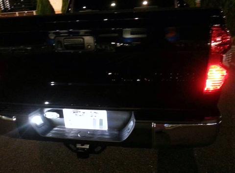 米国トヨタ タンドラ/Epistar 3030 Power LED ナンバー灯/US TOYOTA TUNDRA/SR・SR5