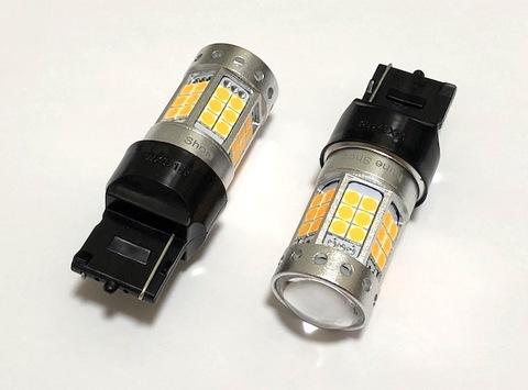 [満足の輝度 1000ルーメン] 3030 LED 42pcs/1000LM/ T20・7440(シングル)ピンチ部違い(WX3X16D)アンバー(橙)