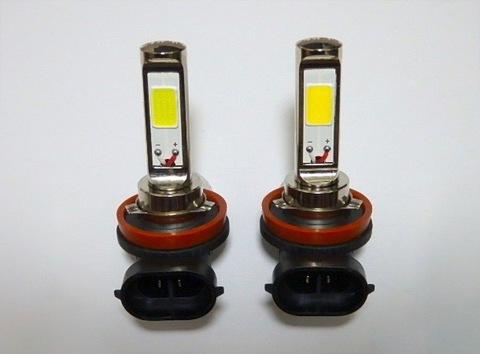 LEDフォグランプ/POWER COB LED/クローム加工/1200LM〜1500LM(ホワイト・イエロー)H8/H9/H11/H16(JP) 兼用