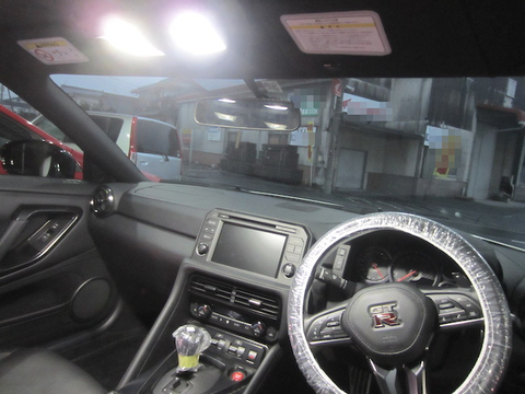 NISSAN GT-R/monster 3014 H.L LED(20pcs) 350LM/色温度別 ルームランプ/GTR R35(2019~)