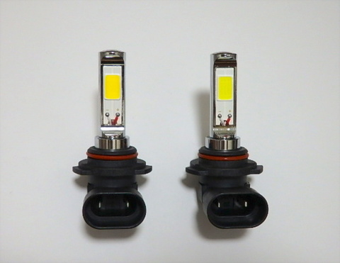 LEDフォグランプ/POWER COB LED/クローム加工/1200LM〜1500LM(ホワイト・イエロー)HB4 (9006)