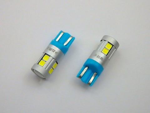 T10/Epistar 3030 Power LED(9pcs) 400LM/色温度 K(ケルビン数)別/2個セット(5500K/6000K/8000K/12000K)