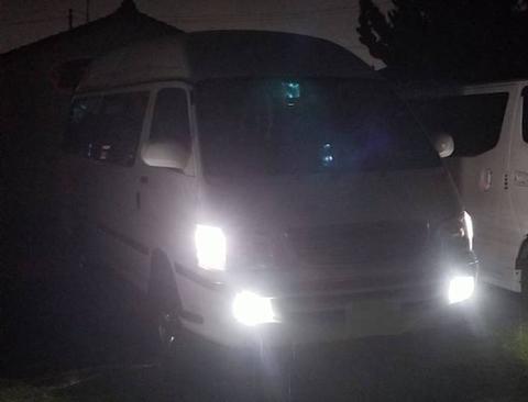 100系ハイエース/LEDフォグランプ/POWER COB LED/クローム加工(ホワイト・イエロー)RZH・KZH1##(最終型)