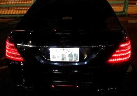 メルセデスベンツ Sクラス W221前期/Epistar 3030 Power LEDライセンスランプ/Benz-S/W221前期