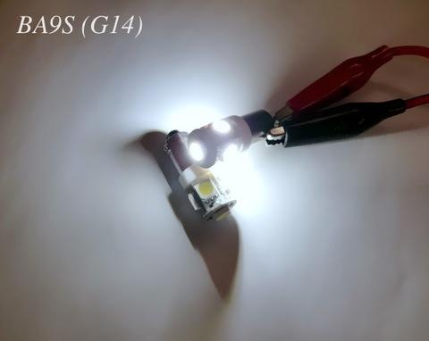 BA9S (G14)180°ピン/SBSMD5050 ホワイト/6000K