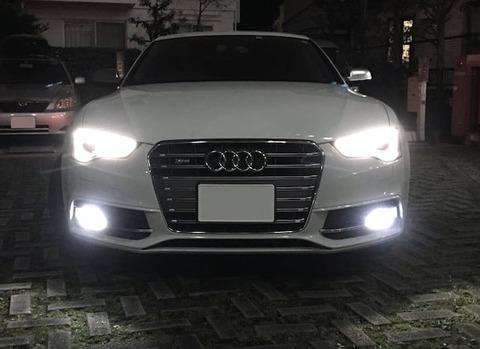 アウディ A5・S5 スポーツバック 8T (B8)/LEDフォグランプ/POWER COB LED/クローム加工(ホワイト・イエロー)/AUDI A5・S5 Sportback 8T (B8)