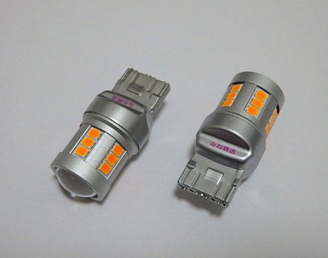 T20/7440(シングル)Epistar 2835 LED(800LM)/橙アンバー