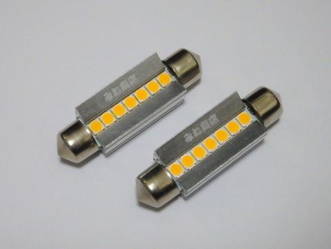 [レトロ電球色 4000K] T10 x 42mm/Epistar 3030 monster LED(400LM)ワーニングキャンセラー内蔵/単品 1個