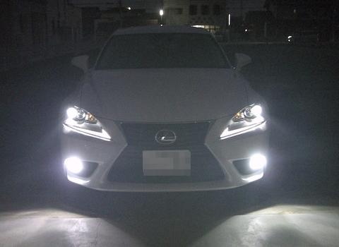 LEXUS IS(GSE3#/AVE3#)LEDフォグランプ/POWER COB LED/クローム加工(ホワイト・イエロー)