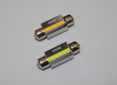 T10 x 36(37)mm/Epistar 3030 monster LED(350LM)ワーニングキャンセラー内蔵/単品 1個(昼白色 6000K/レトロ電球色 4000K)