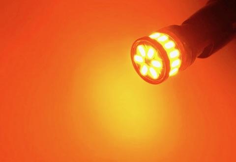 T10/monster 3014 H.L LED(20pcs) 300LM/アンバー(橙)2個セット [T10究極の輝度](12V車/24V車 兼用)