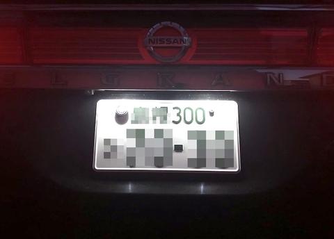 日産エルグランド・E52/LED(SMD5630)ナンバー灯/Nissan ELGRAND E52