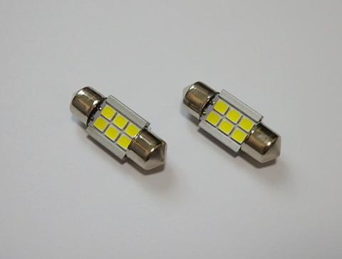 T10 x 28,31mm/1,8W POWER 2835 LED/ホワイト 6000K/単品 1個
