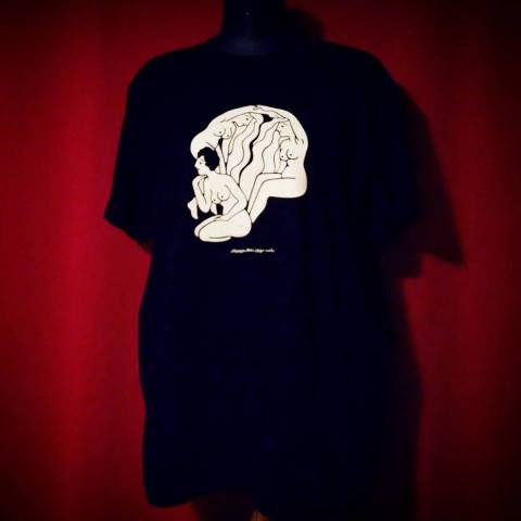 """trompe l'oeil """"skull"""" tee  [騙し絵スカルT]"""