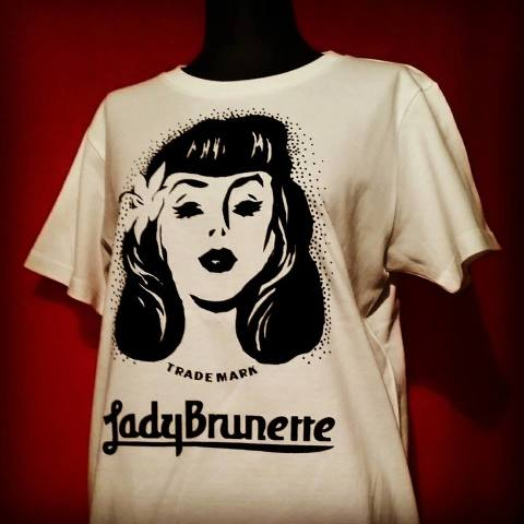 Lady Brunette Logo Mark / Vanilla white