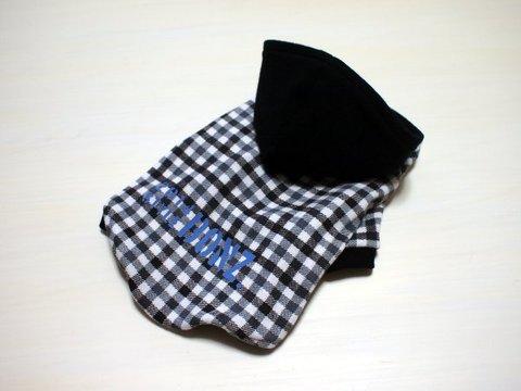 SSサイズのみ☆モノトーンチェック柄ラグランTシャツ