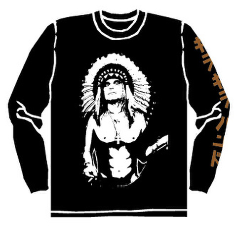 ギラギラバンド ロングTシャツ(黒)