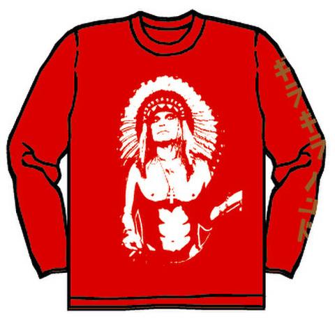 ギラギラバンド ロングTシャツ(赤)