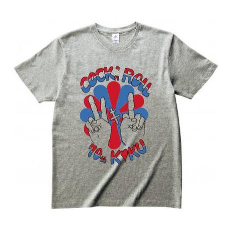 菊Cock'n Roll 70th Tシャツ(グレー)