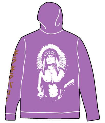 ギラギラバンド ZIPパーカー(紫)