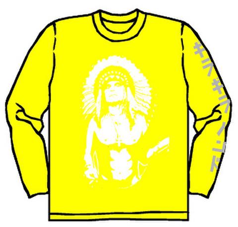 ギラギラバンド ロングTシャツ(黄)