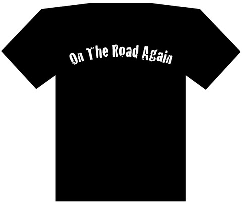 ON THE ROAD AGAIN Tシャツ(黒)