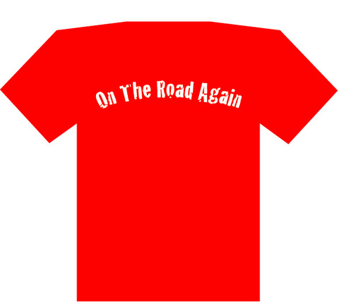 ON THE ROAD AGAIN Tシャツ(赤)