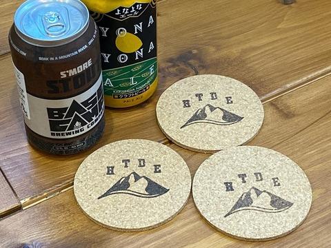 HTDE コルク製コースター(3枚セット)