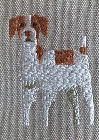 ブリタニースパニエル犬刺繍トートバッグ【R-11】6,000円(税別)