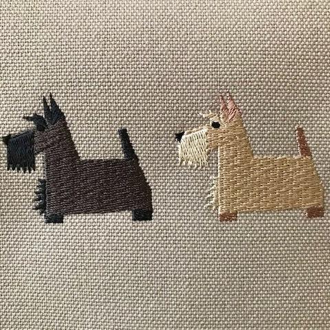 スコティッシュ・テリア犬刺繍トートバッグ【R-11】6,000円(税別)
