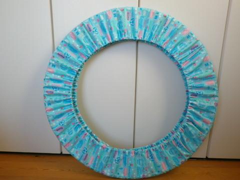 フープカバー(径80cm)      スマイルガール・ブルー