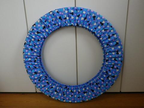フープカバー(径80cm)     アリスシルエット・ブルー