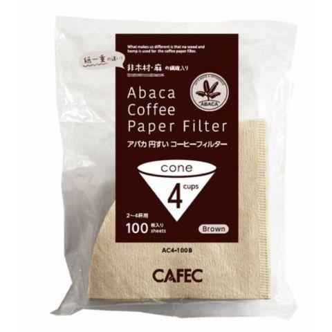 アバカ 円すい コーヒー フィルター 2~4杯用 (100枚入) 茶色 三洋産業