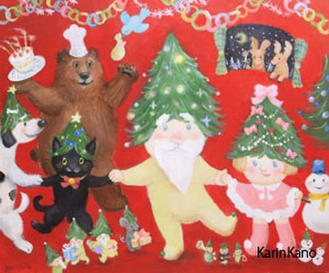 ポストカード たのしいクリスマス
