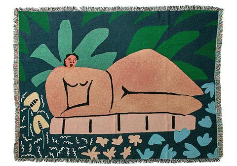 "bfgf - ""Garden At Night"" blanket"