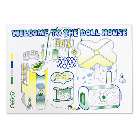 "ancco「WELCOME TO THE DOLLHOUSE RISO print series」""Map"""