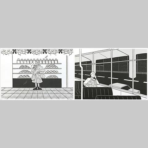 小幡彩貴「季節の記録」Riso Print Group D