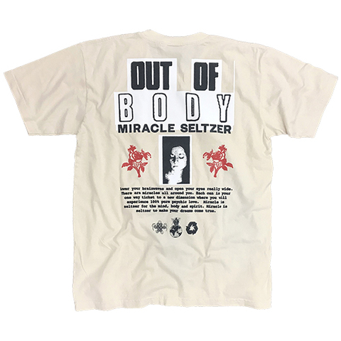 """Miracle Seltzer """"OUT OF BODY"""" S/S Tshirt by B.Thom Stevenson & Jason Wright"""